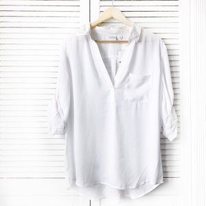 New York & Company White Chiffon Swing Top NWT